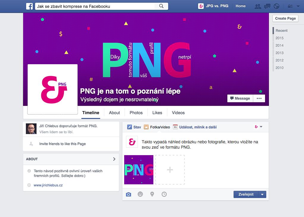 Firemní profil s PNG fotografiemi