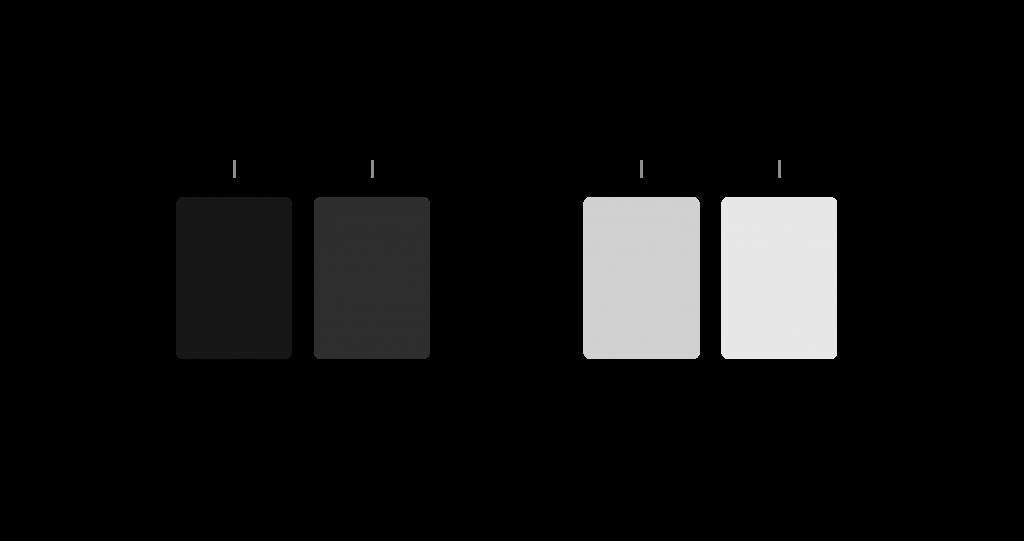 Gray palette dark light comparison 1 1024x541 - Jak tvořit systematické barvy pro digitální produkty